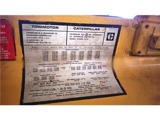 Caterpillar Towmotor Forklift, Model V50B, Serial Number
