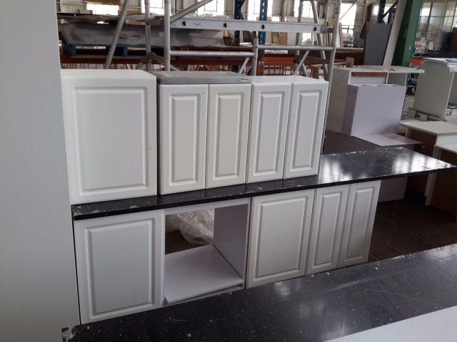 Kitchen suite galley style kitchen with breakfast bar Pantry 800mm