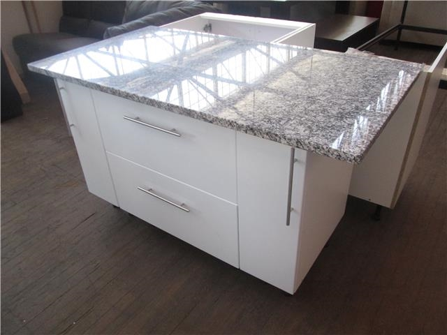 Kitchen straight line galley style with kitchen island for Galley kitchen with island bench