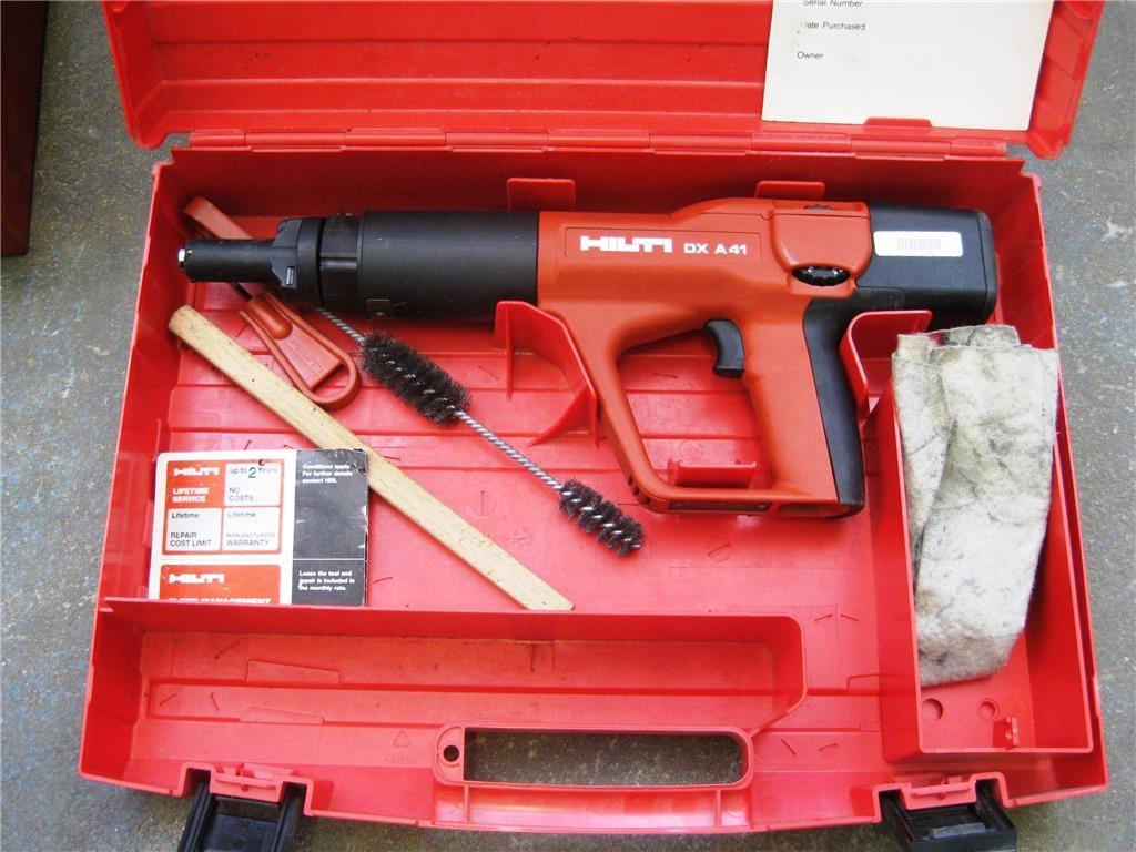 Hilti DX A41 Nail Gun In Plastic Carry Case, Requires Repair, ID ...
