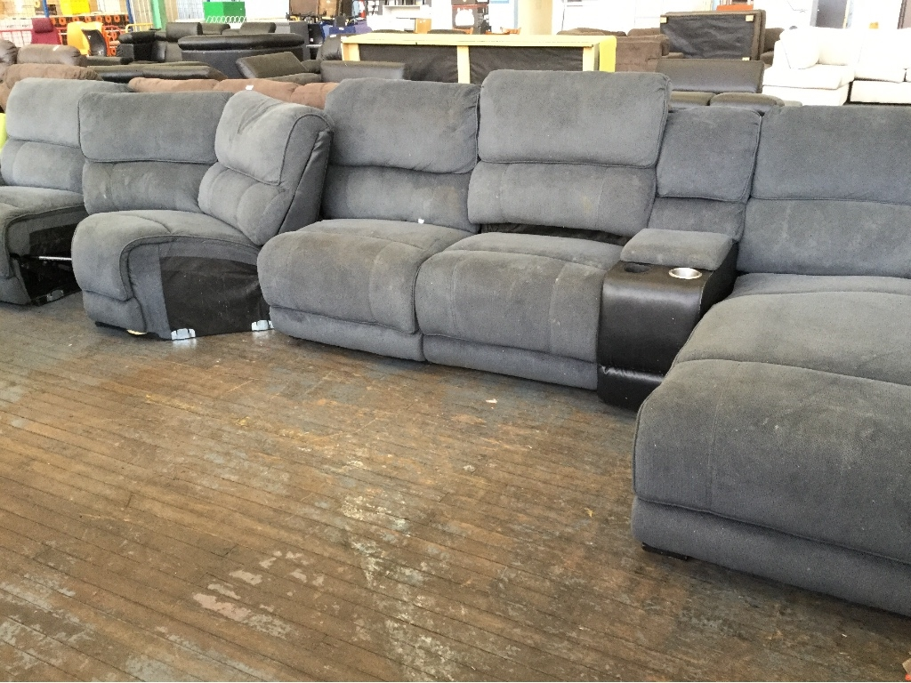 Fantastic Furniture Boston Modular Lounge With Chaise Marked Sold