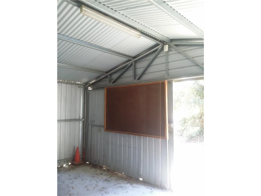Shed steel framed zincalume steel clad approx size 9 for Ground air conditioner