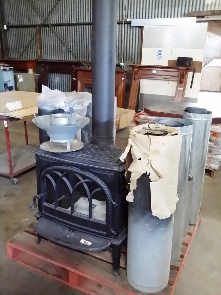 Freestanding Wood Fireplace Cast Iron With Flue Components Jotul