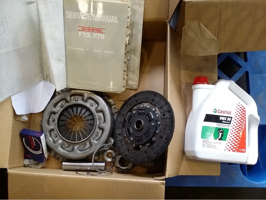 Daihatsu F73,F78 Service Manual,,Rocky Clutch Parts and 4 Litres  Transmission Oil (Located At Albert Park Sa) [95421+112]