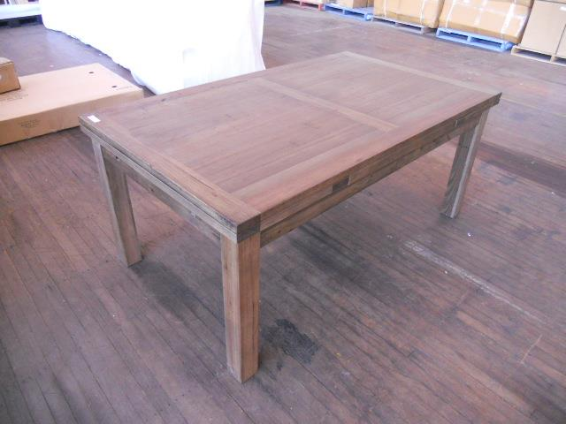 Extension Dining Table Riverland Colour Wormy Smoke1050mm X1800mm X 780mm Extended 2800mm Flat Pack 2 Only Cartons Parts Have Support