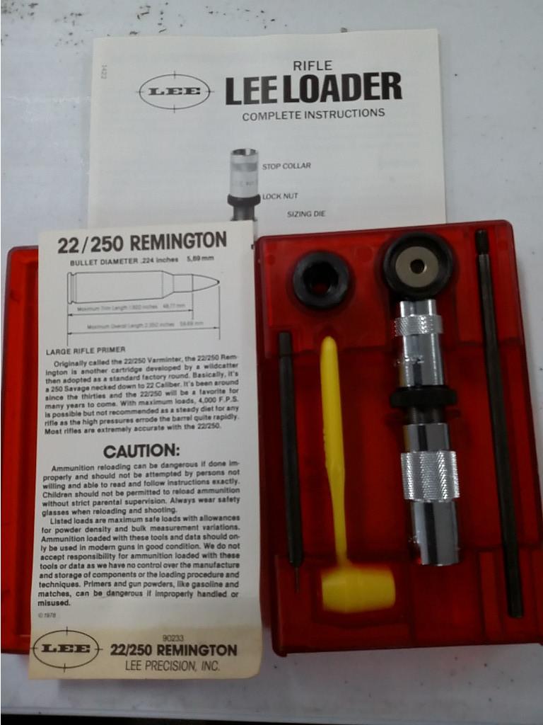 Lee Reloader -22/250 Remington -Model 90233 [95890+1]