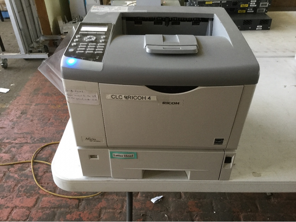 Printer, Ricoh Aficio SP 4310N, Unit Powers On, Not Tested