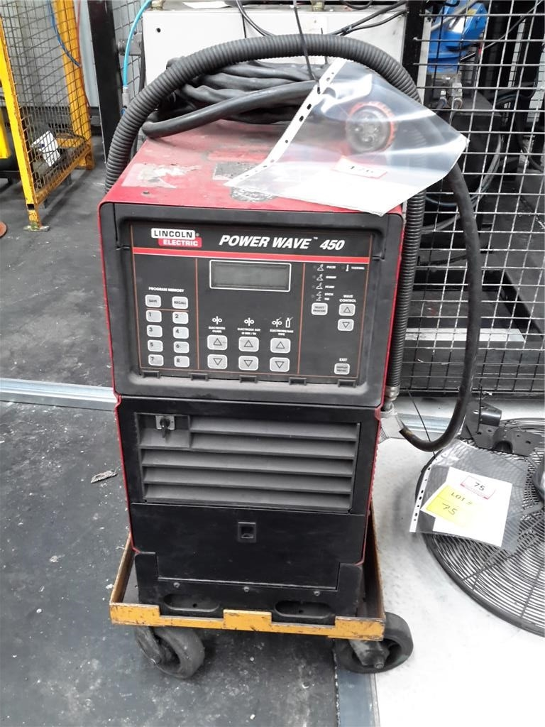 Lincoln Electric Power Wave 450 Robotic Controlled Mig Tig Stick Welder Pulse Gmaw Fcaw