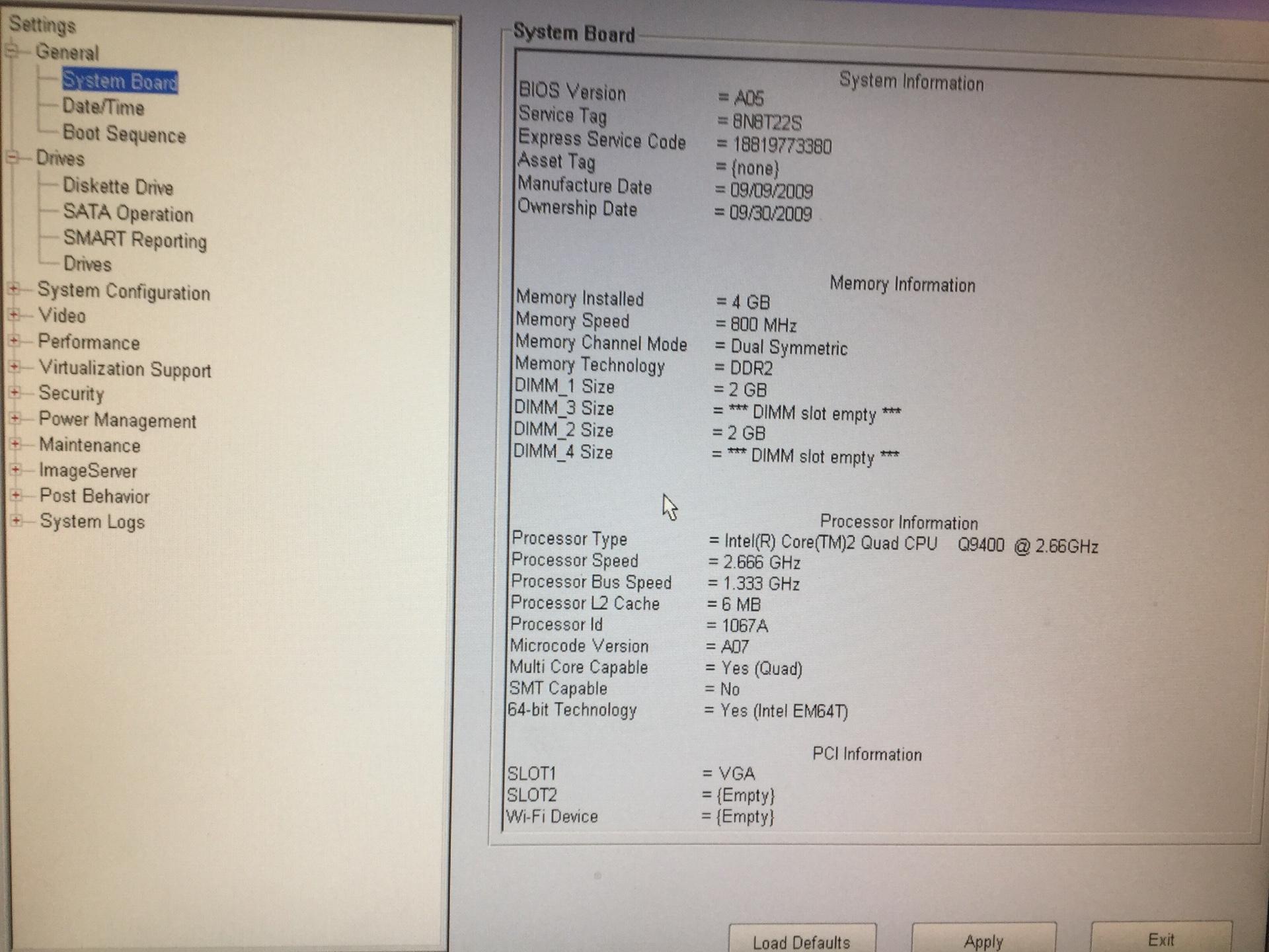 Dell Optiplex 960 Bios A18