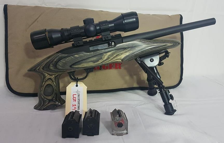 Pistol Ruger Charger 22 Calibre Self Loading 250 Mm Barrel Serial Number 490 23870comes With Soft Case Bi Pod 2 5x 32 Nikko Stirling Scope Quantity 3 Ten Shot Mags H Class Required Dealer Tag Number E855 Will offer a new 22 charger takedown pistol, which like the original charger handgun introduced in 2007, is built on the ruger 10/22 platform. pistol ruger charger 22 calibre
