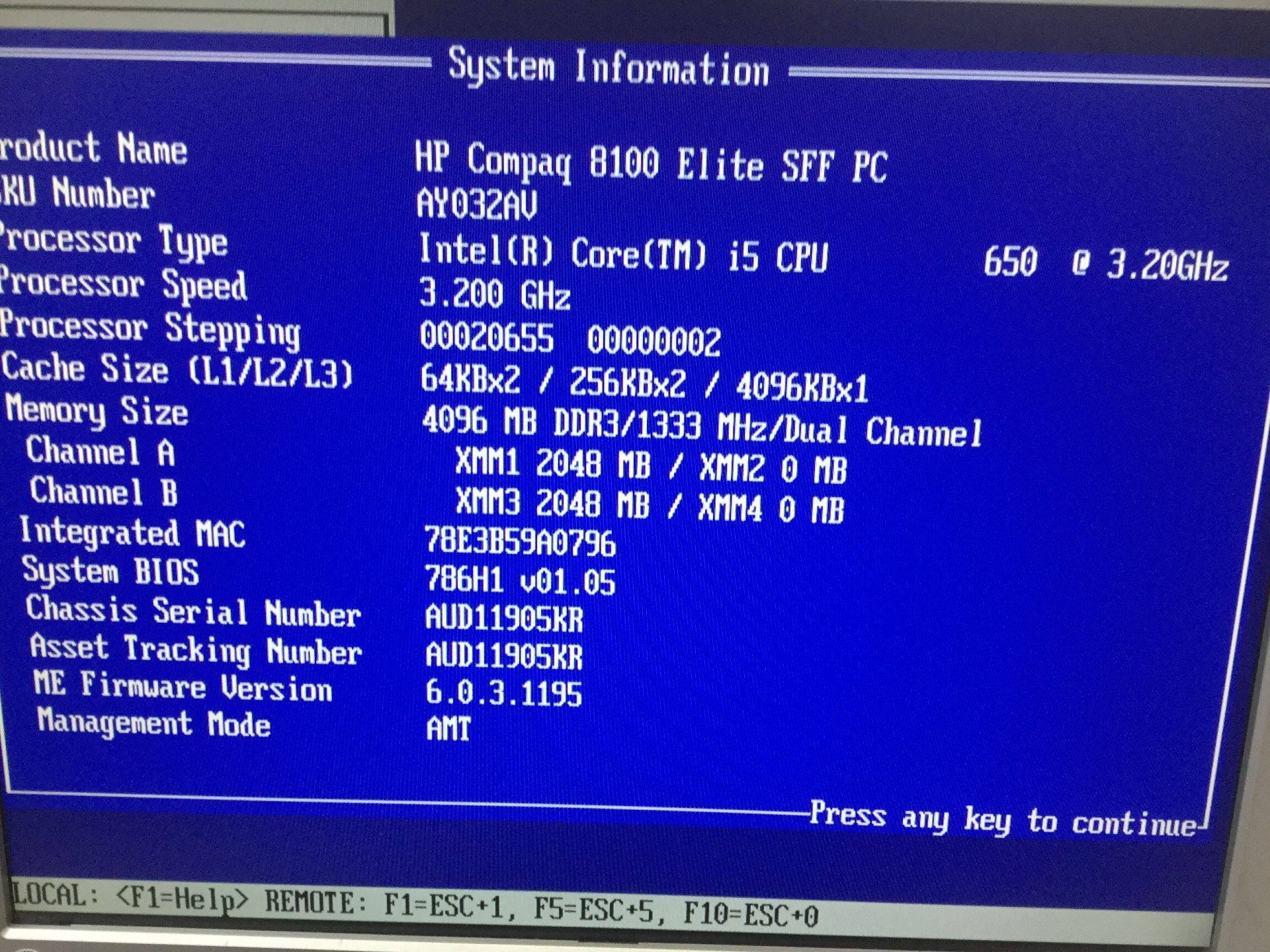 Desktop, HP Compaq 8100 Elite SFF PC, Appears to Function