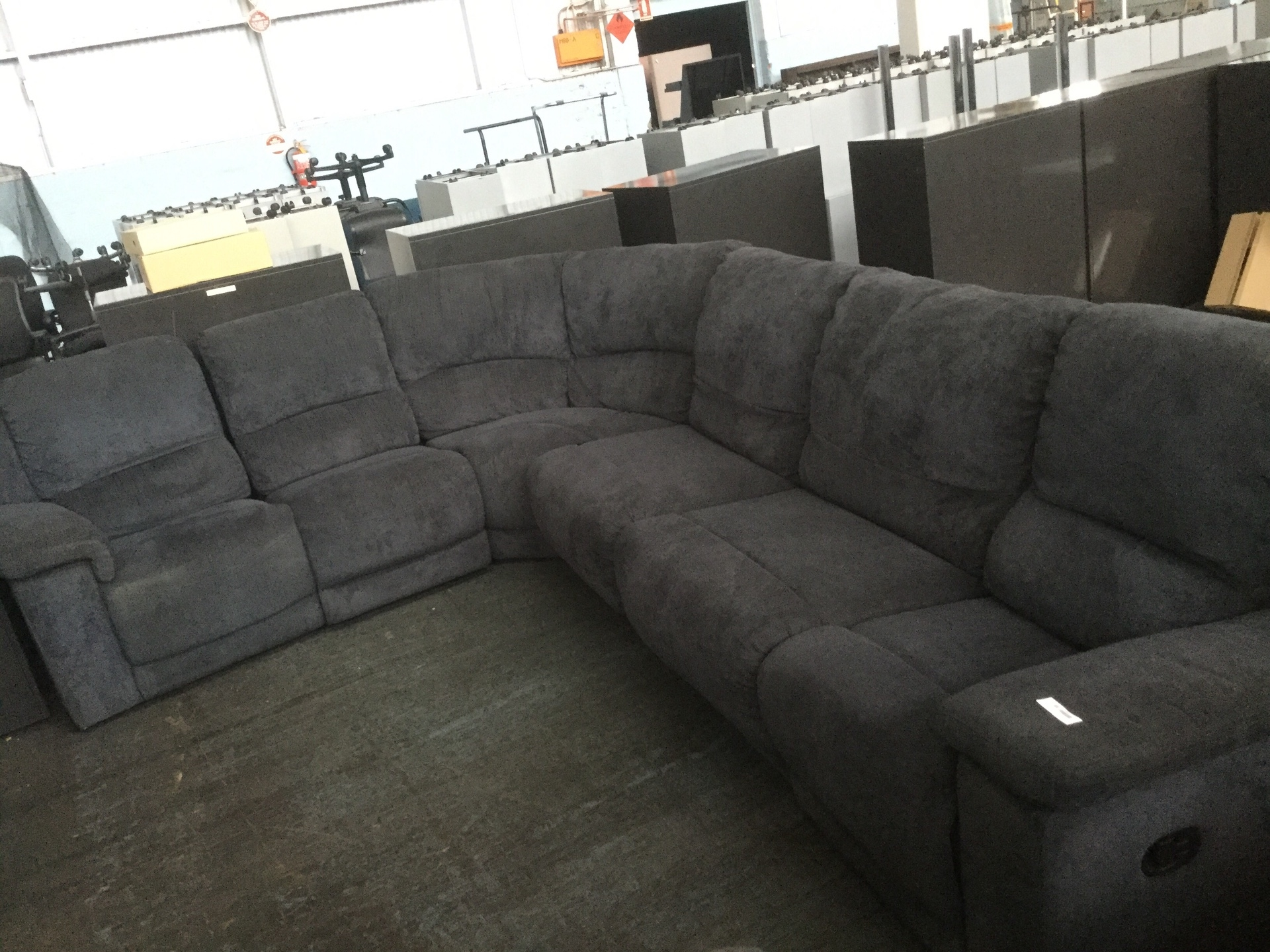 Corner Modular Lounge With 2x Recliners Amp Fold Out Sofa