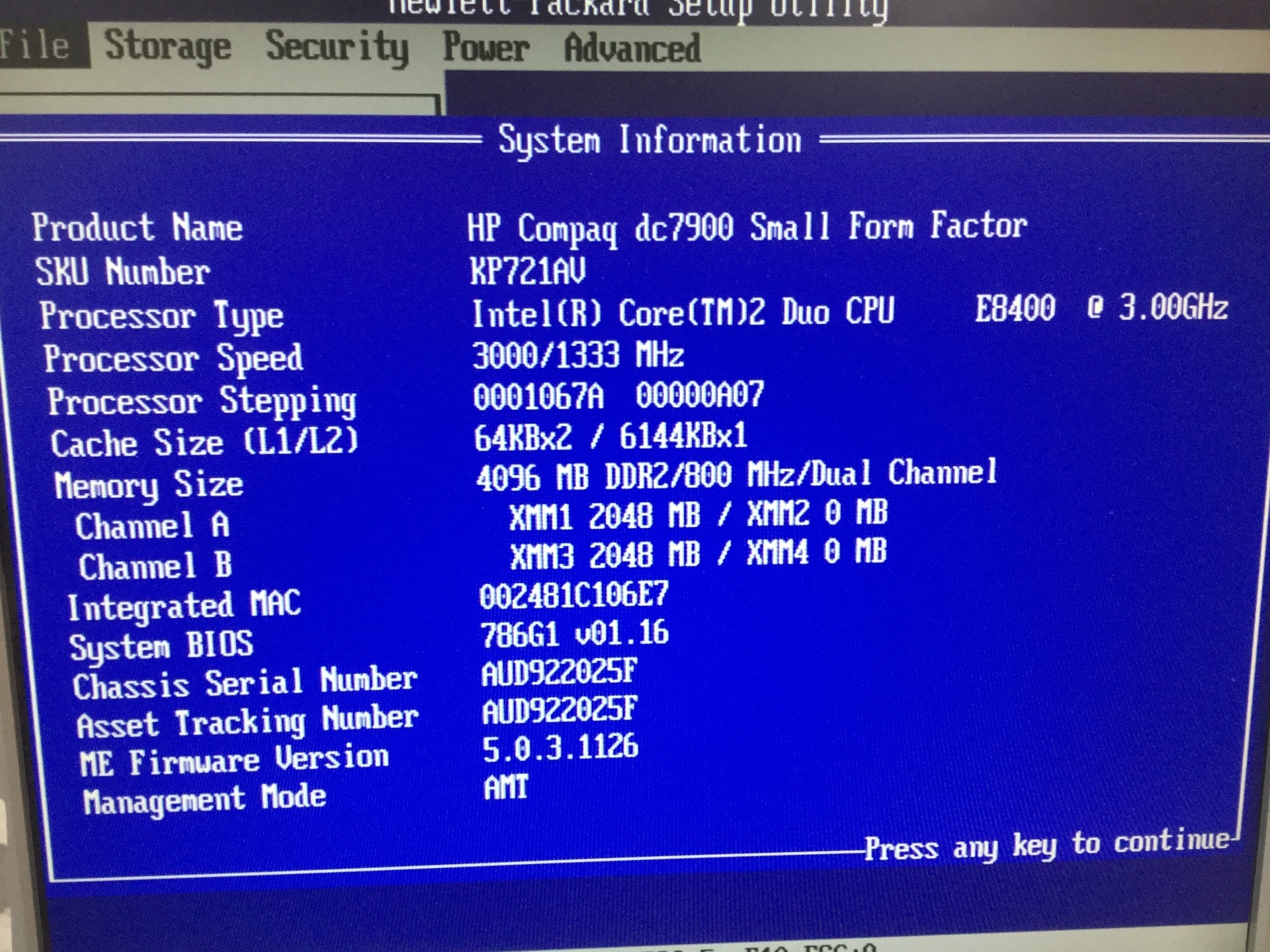 Desktop PC, HP Compaq dc7900 SFF, Appears to Function