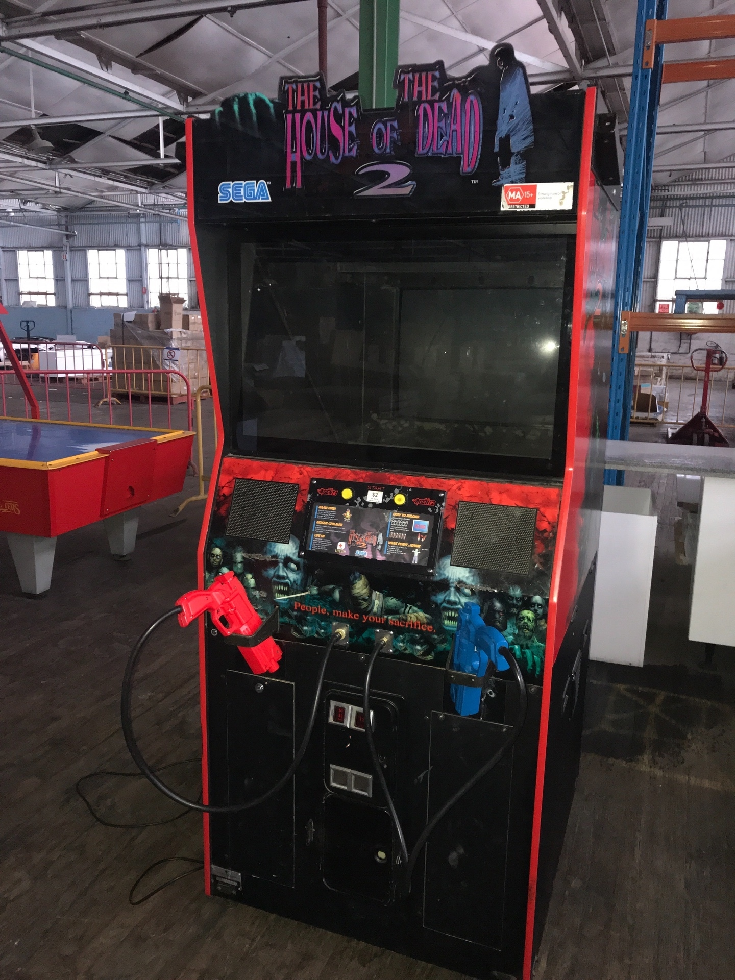 House Of The Dead 2 Arcade Game Sega Coin Mechanism Appears To
