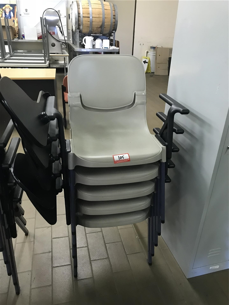 Stackable Student Chairs With Arm Desk Sebel Qty Of 5
