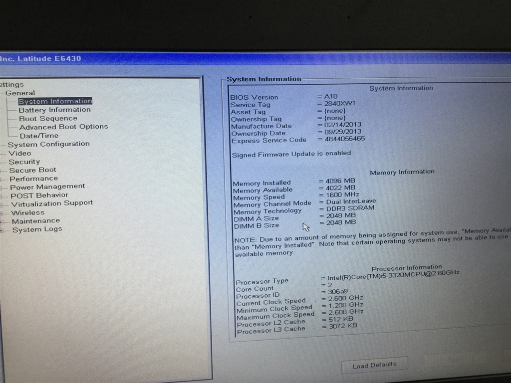 Laptop, Dell Latitude E6430, No Charger, Appears to Function