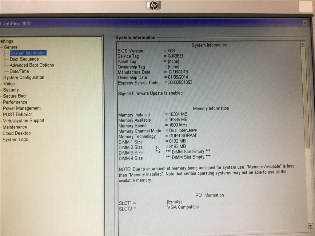 Desktop PC, Dell Optiplex 9020, Appears to Function