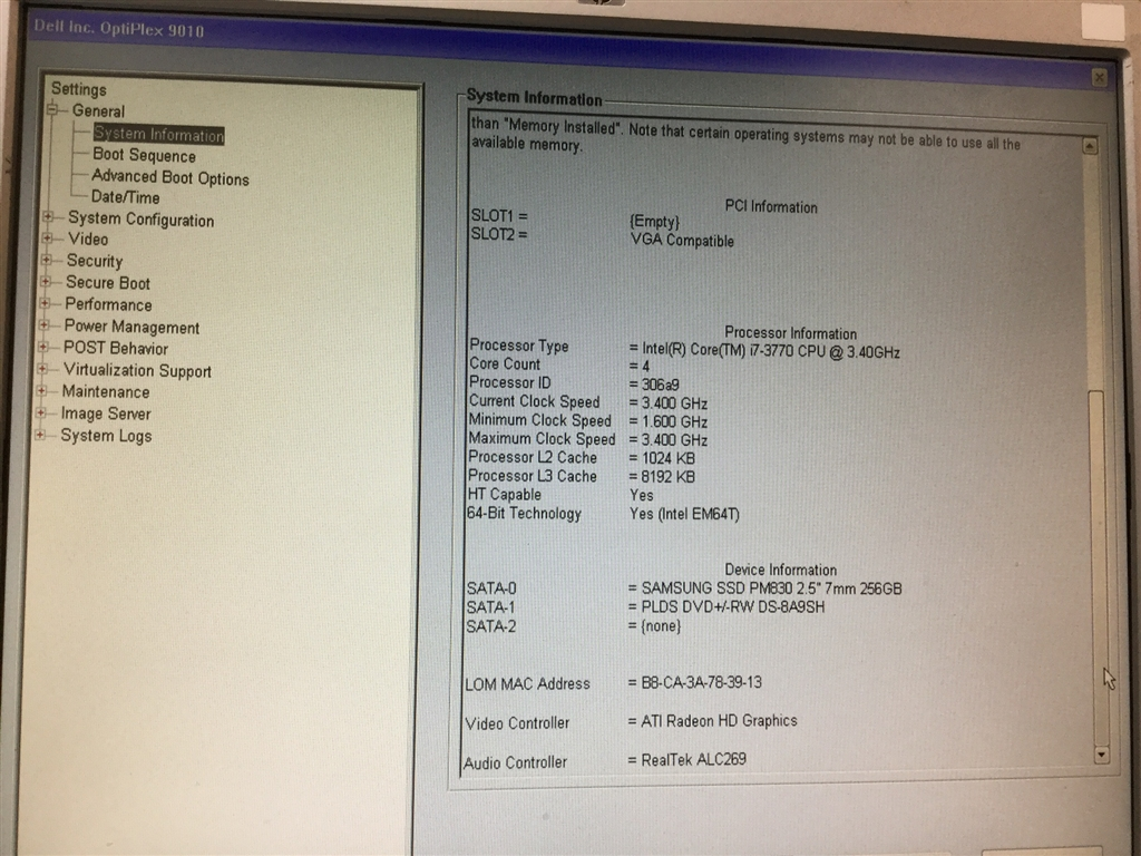 Desktop PC, Dell Optiplex 9010, Appears to Function