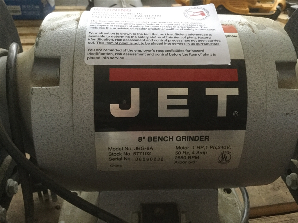 Awe Inspiring 8 Bench Grinder Jet Model Jbg 8A 240V Single Phase Not Bralicious Painted Fabric Chair Ideas Braliciousco