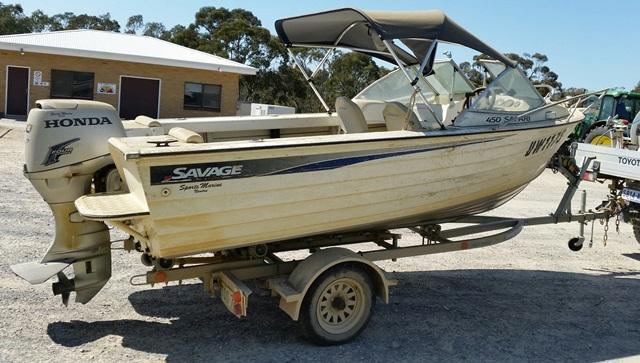 Boat-Savage 450 Safari Aluminium 4 5 Metre Long with 50 Hp